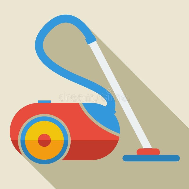 Σύγχρονη επίπεδη ηλεκτρική σκούπα εικονιδίων έννοιας σχεδίου ελεύθερη απεικόνιση δικαιώματος