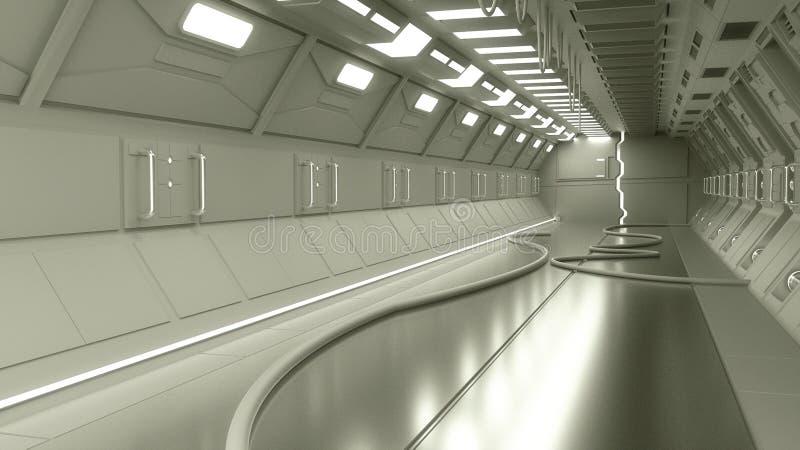 Σύγχρονη εσωτερική αρχιτεκτονική scifi στοκ εικόνες με δικαίωμα ελεύθερης χρήσης