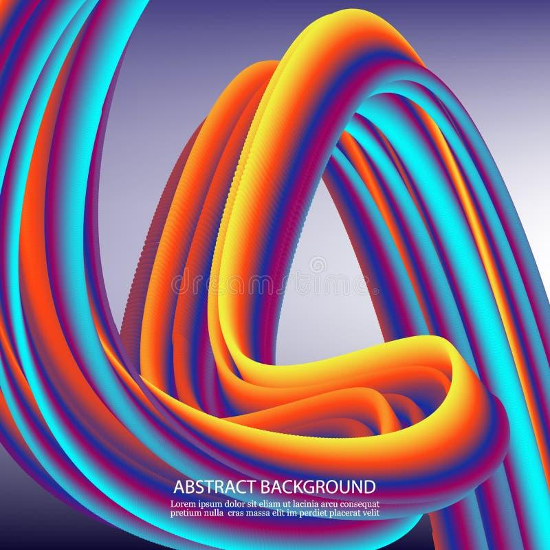 Σύγχρονη ζωηρόχρωμη αφίσα ροής Υγρή μορφή κυμάτων στο μπλε υπόβαθρο χρώματος Σχέδιο τέχνης για το πρόγραμμα σχεδίου σας διάνυσμα ελεύθερη απεικόνιση δικαιώματος