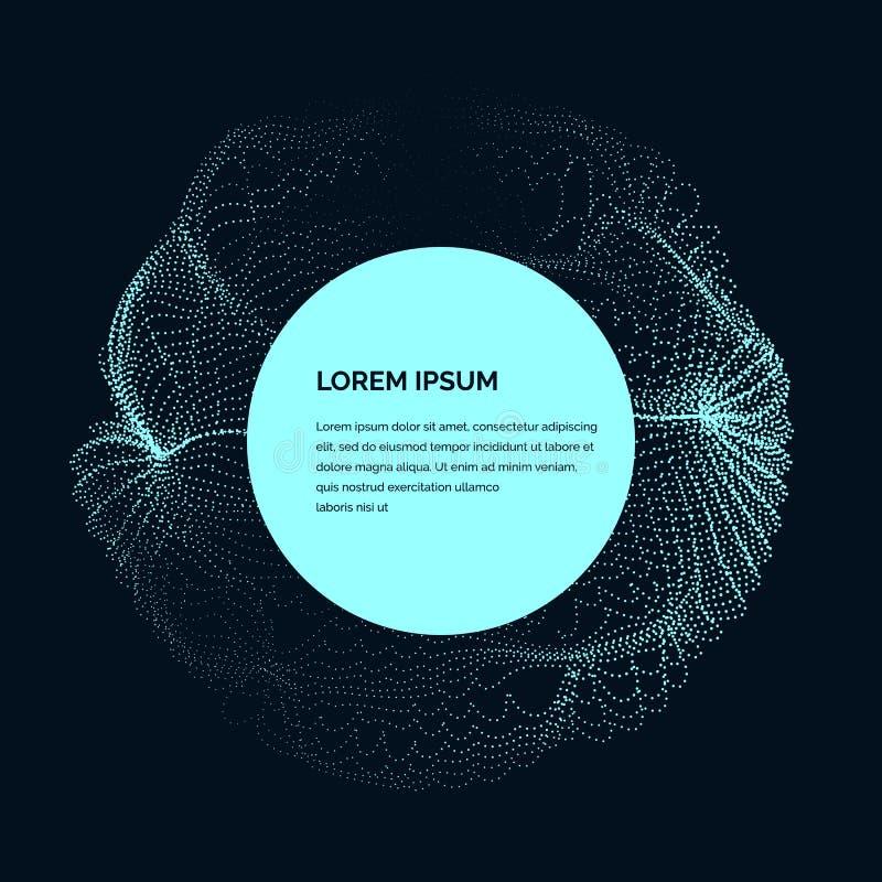 Σύγχρονη διανυσματική απεικόνιση με μια παραμορφωμένη μορφή κύκλων των μορίων απεικόνιση αποθεμάτων