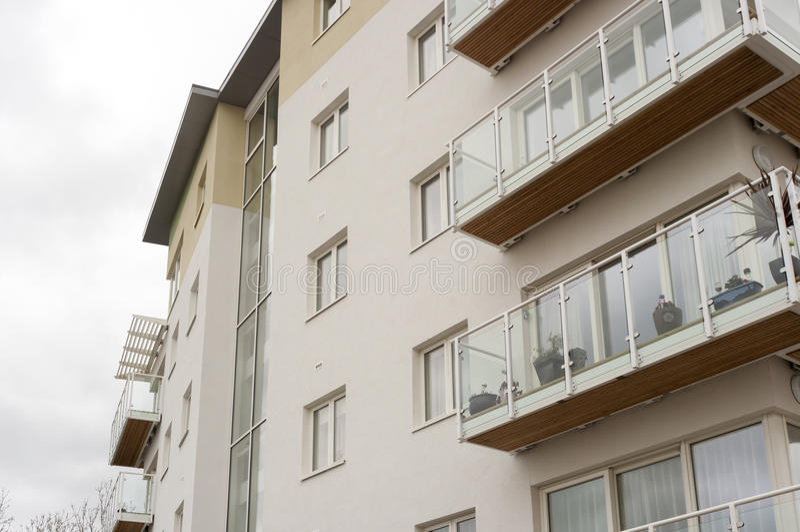 Σύγχρονη κοινωνική κατοικία, UK στοκ φωτογραφία
