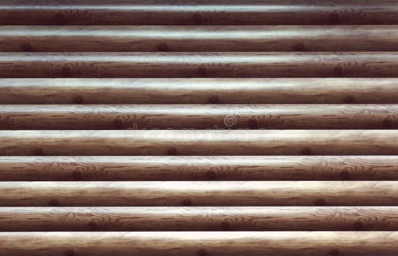 Σύγχρονη κομμένη χέρι φυσική πρόσοψη τοίχων καμπινών κούτσουρων στοκ εικόνα