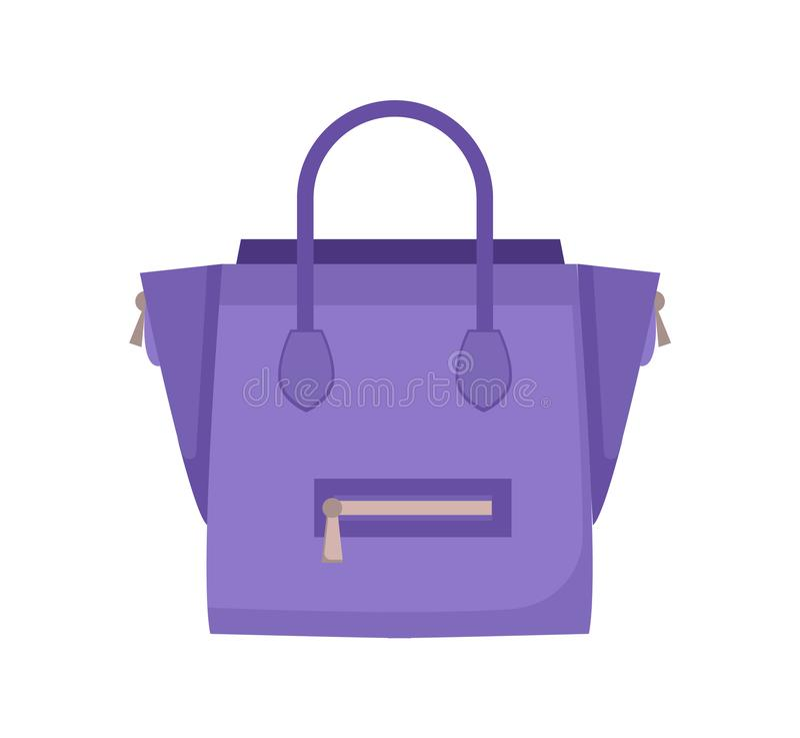 Σύγχρονη μοντέρνη θηλυκή τσάντα δέρματος στο μπλε ελεύθερη απεικόνιση δικαιώματος