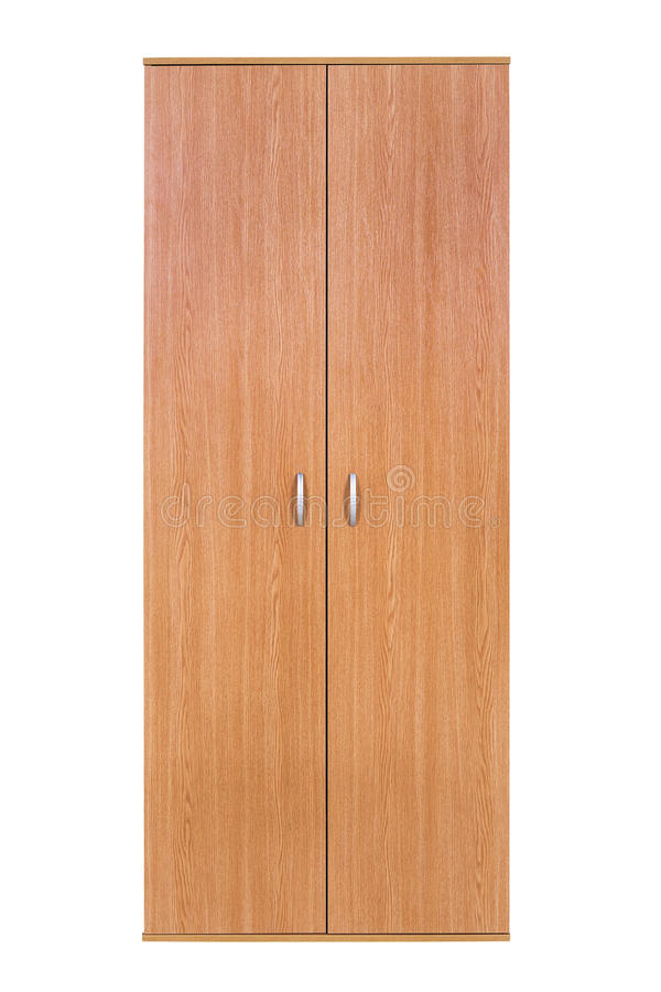Σύγχρονη ξύλινη ντουλάπα στοκ φωτογραφίες με δικαίωμα ελεύθερης χρήσης