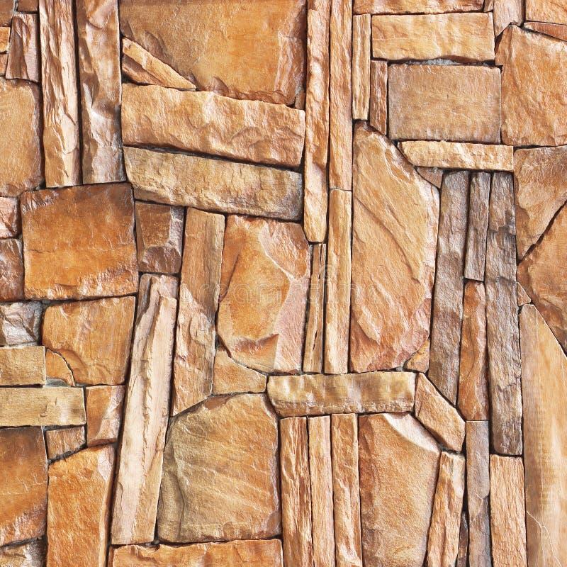 Σύγχρονη πλάκα, υπόβαθρο τοίχων πετρών πλακών  Καφετής τοίχος πετρών backg στοκ εικόνες