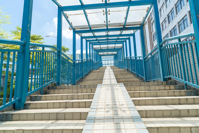Σύγχρονη σκάλα ύφους πόλεων στοκ εικόνες με δικαίωμα ελεύθερης χρήσης