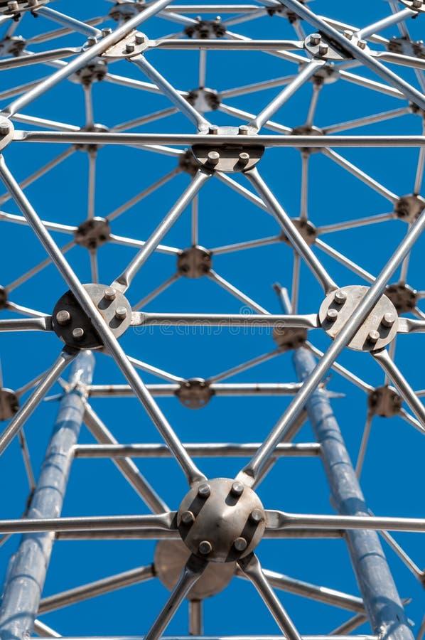 Σύγχρονη τέχνη, hexagon σφαίρα, κατασκευή χάλυβα στοκ φωτογραφίες με δικαίωμα ελεύθερης χρήσης