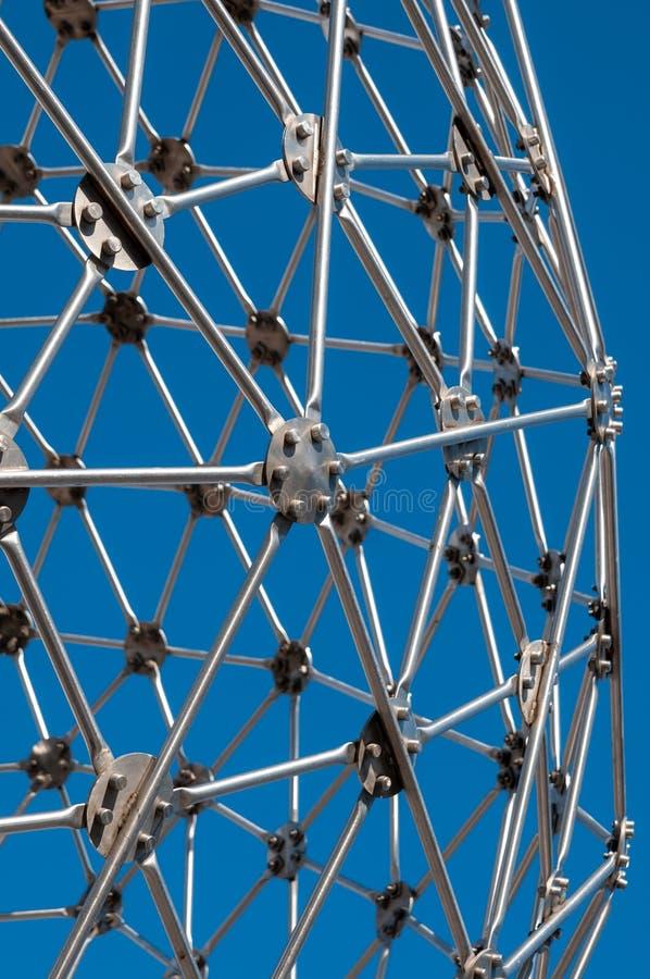 Σύγχρονη τέχνη, hexagon σφαίρα, κατασκευή χάλυβα στοκ εικόνες με δικαίωμα ελεύθερης χρήσης
