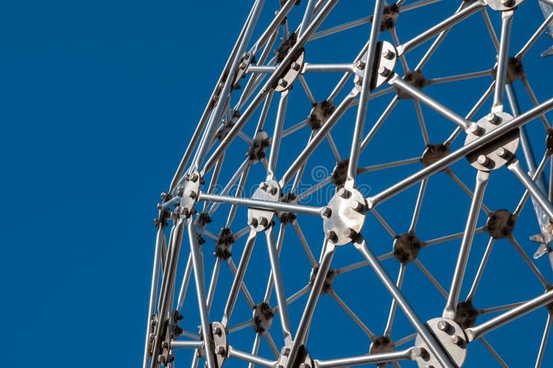 Σύγχρονη τέχνη, hexagon σφαίρα, κατασκευή χάλυβα στοκ εικόνες