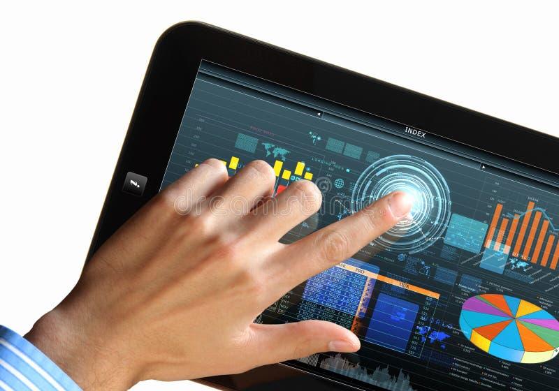 Σύγχρονη τεχνολογία υπολογιστών στην επιχείρηση στοκ εικόνες