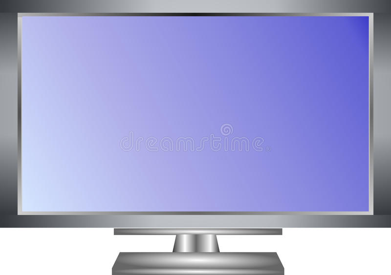 Σύγχρονη της μεγάλης οθόνης απεικόνιση οργάνων ελέγχου TV LCD στοκ εικόνες