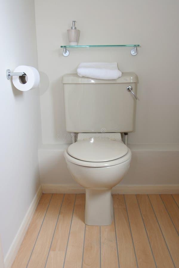 σύγχρονη τουαλέτα δεξαμ&ep στοκ φωτογραφία