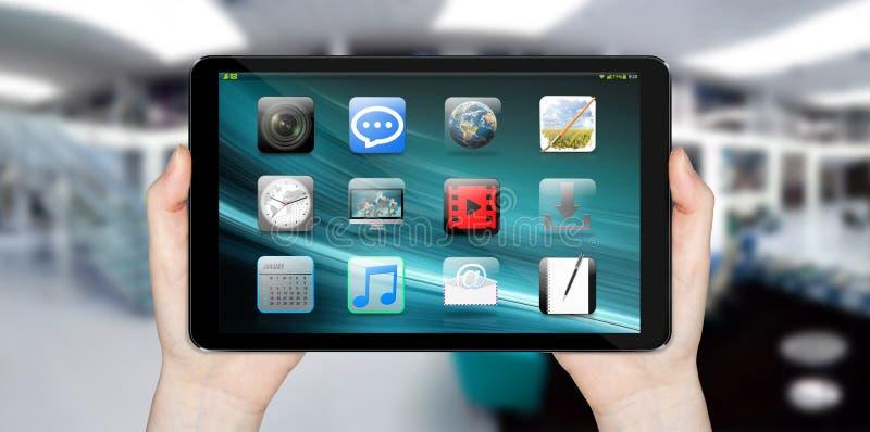 Σύγχρονη ψηφιακή ταμπλέτα απεικόνιση αποθεμάτων
