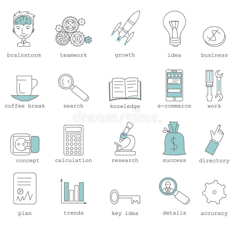 Σύγχρονη infographic διανυσματική έννοια συλλογής εικονογραμμάτων λογότυπων διανυσματική απεικόνιση