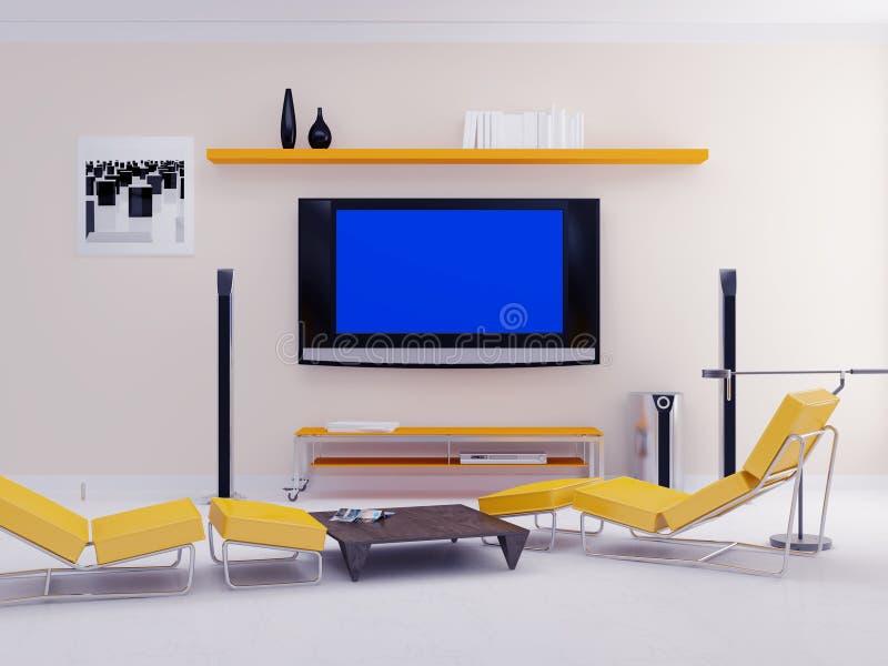 σύγχρονη TV διαμερισμάτων απεικόνιση αποθεμάτων