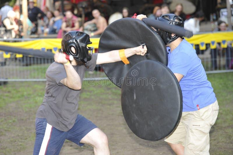 Σύγχρονοι ιππότες, μεσαιωνικό φεστιβάλ, Νυρεμβέργη 2013 στοκ εικόνες με δικαίωμα ελεύθερης χρήσης