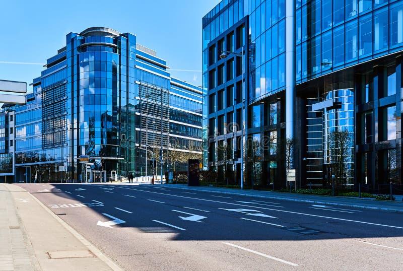 Σύγχρονοι ουρανοξύστες του Λουξεμβούργου στοκ εικόνες με δικαίωμα ελεύθερης χρήσης
