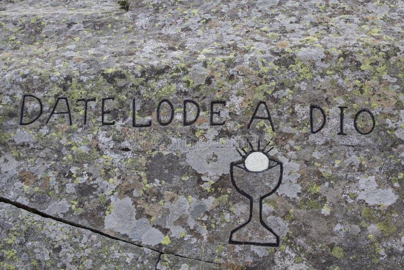 Σύγχρονος γραφέας βράχου στοκ φωτογραφία