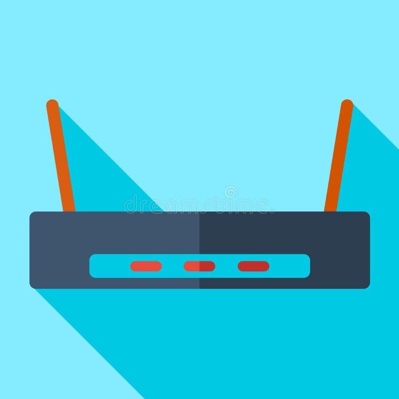 Σύγχρονος επίπεδος δρομολογητής της WI-Fi εικονιδίων έννοιας σχεδίου ελεύθερη απεικόνιση δικαιώματος