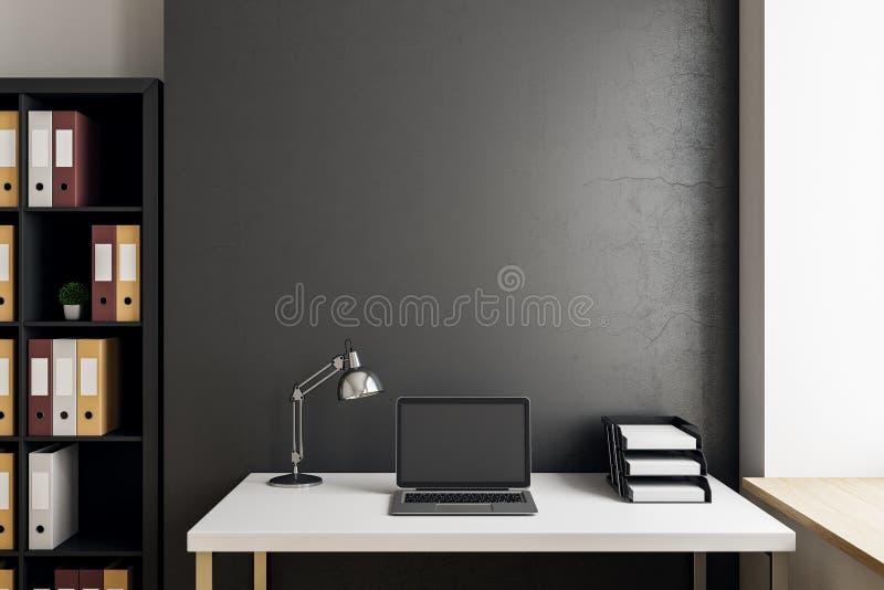 Σύγχρονος εργασιακός χώρος γραφείων με το copyspace διανυσματική απεικόνιση