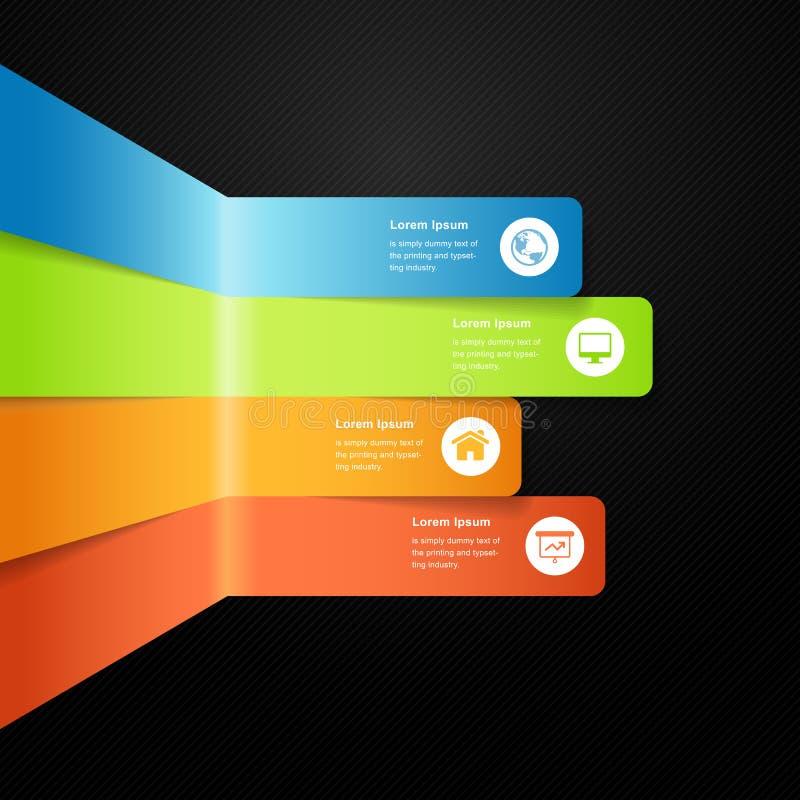 Σύγχρονος διανυσματικός πλήρης γραφικός φραγμός πληροφοριών χρώματος διανυσματική απεικόνιση
