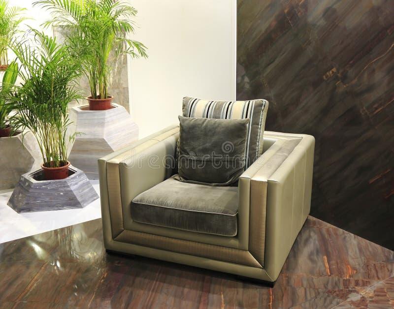 Σύγχρονος καναπές δέρματος στοκ εικόνα με δικαίωμα ελεύθερης χρήσης