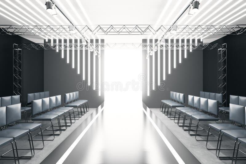 Σύγχρονος κενός διάδρομος μόδας διανυσματική απεικόνιση