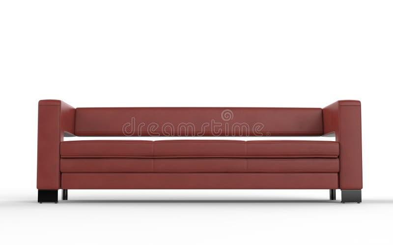 Σύγχρονος κόκκινος καναπές δέρματος στοκ φωτογραφία