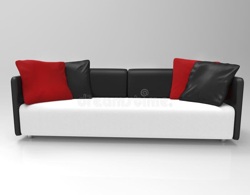 Σύγχρονος μινιμαλιστικός καναπές στοκ εικόνα