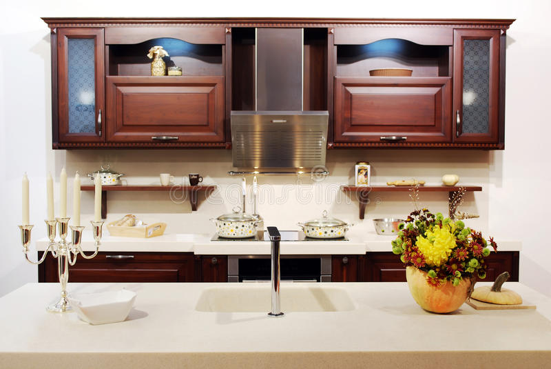Download σύγχρονος νέος κουζινών στοκ εικόνα. εικόνα από μαγείρεμα - 17055233