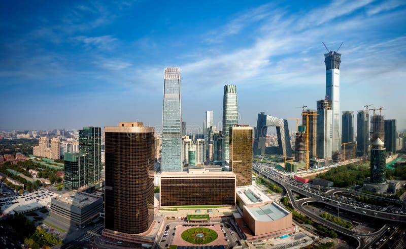 Σύγχρονος οικονομικός ορίζοντας περιοχής της Κίνας στοκ εικόνες με δικαίωμα ελεύθερης χρήσης
