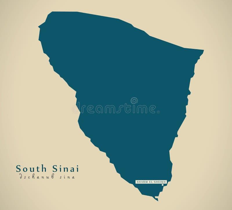 Σύγχρονος χάρτης - νότιο Sinai Π.Χ. ελεύθερη απεικόνιση δικαιώματος