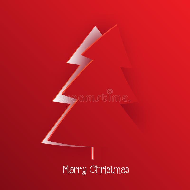Σύγχρονος χαιρετισμός Χριστουγέννων απεικόνιση αποθεμάτων