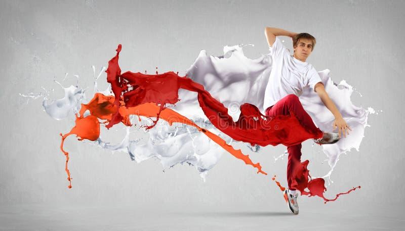 Σύγχρονος χορευτής ύφους στοκ εικόνες