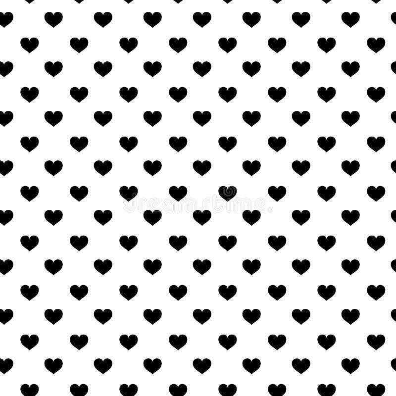 Σύγχρονο άνευ ραφής σχέδιο παιδιών με την καρδιά γραπτά χαριτωμένα minimalistic Σκανδιναβικά στοιχεία κινούμενων σχεδίων στο άσπρ απεικόνιση αποθεμάτων