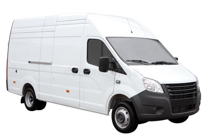 Σύγχρονο άσπρο φορτηγό στοκ εικόνα