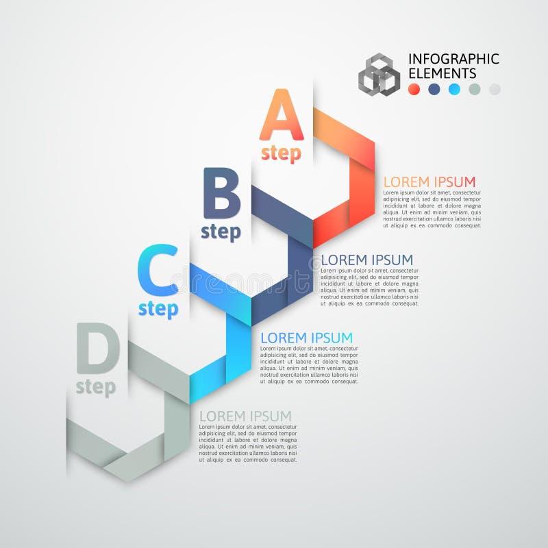 Σύγχρονο έμβλημα επιλογών ύφους origami επιχειρησιακών βημάτων ελεύθερη απεικόνιση δικαιώματος