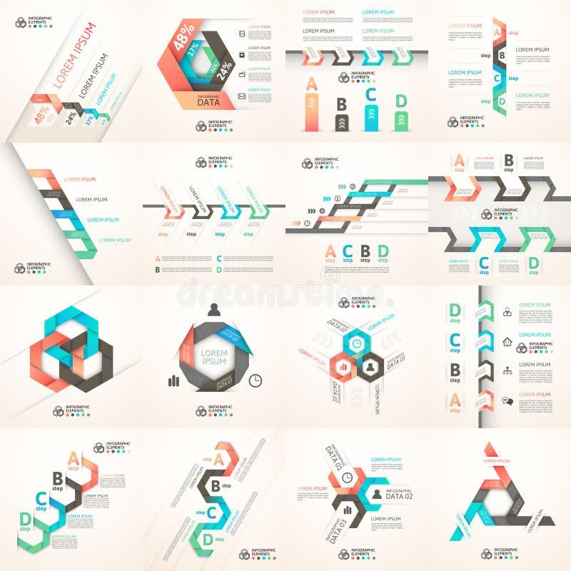 Σύγχρονο έμβλημα επιλογών ύφους origami επιχειρησιακών βημάτων απεικόνιση αποθεμάτων