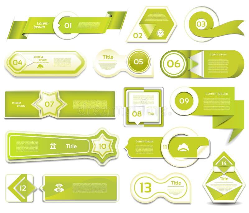 Σύγχρονο έμβλημα επιλογών infographics επίσης corel σύρετε το διάνυσμα απεικόνισης μπορέστε να χρησιμοποιηθείτε για το σχεδιάγραμ ελεύθερη απεικόνιση δικαιώματος
