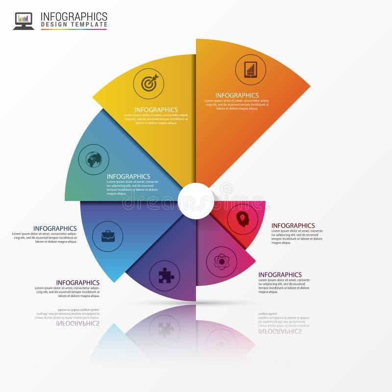 Σύγχρονο έμβλημα επιλογών infographics Σπειροειδές διάγραμμα πιτών διάνυσμα διανυσματική απεικόνιση