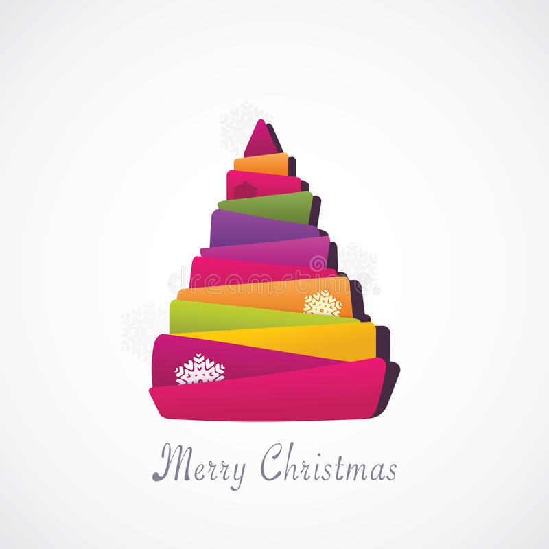 Σύγχρονο δέντρο Χριστουγέννων ελεύθερη απεικόνιση δικαιώματος