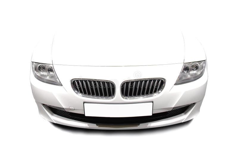 σύγχρονο αθλητικό λευκό αυτοκινήτων στοκ φωτογραφία