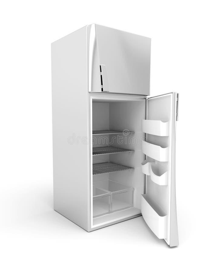 σύγχρονο ασήμι ψυγείων ελεύθερη απεικόνιση δικαιώματος