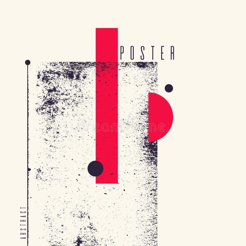 Σύγχρονο αφηρημένο γεωμετρικό υπόβαθρο τέχνης με το επίπεδο, minimalistic ύφος Διανυσματική αφίσα απεικόνιση αποθεμάτων