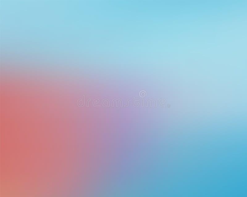 Σύγχρονο αφηρημένο μαλακό μπλε κόκκινο χρώμα υποβάθρου blure διανυσματική απεικόνιση