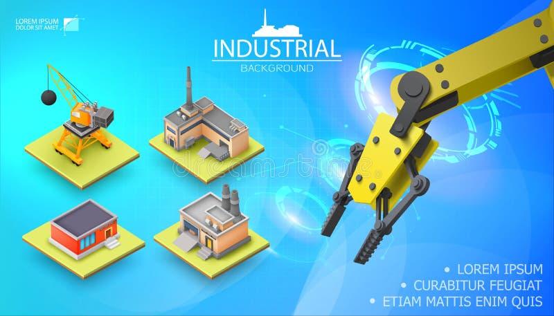 Σύγχρονο βιομηχανικό ελαφρύ πρότυπο διανυσματική απεικόνιση