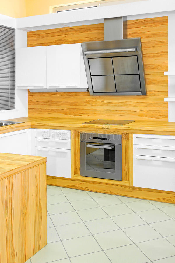 σύγχρονο δάσος κουζινών στοκ εικόνα με δικαίωμα ελεύθερης χρήσης