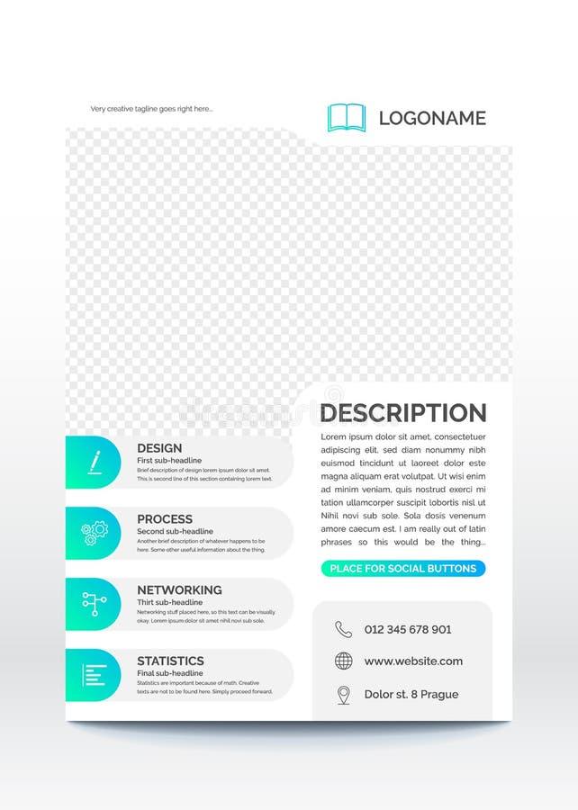Σύγχρονο δημιουργικού και φρέσκου σχεδιάγραμμα προτύπων επιχειρησιακών ιπτάμενων, διανυσματική απεικόνιση