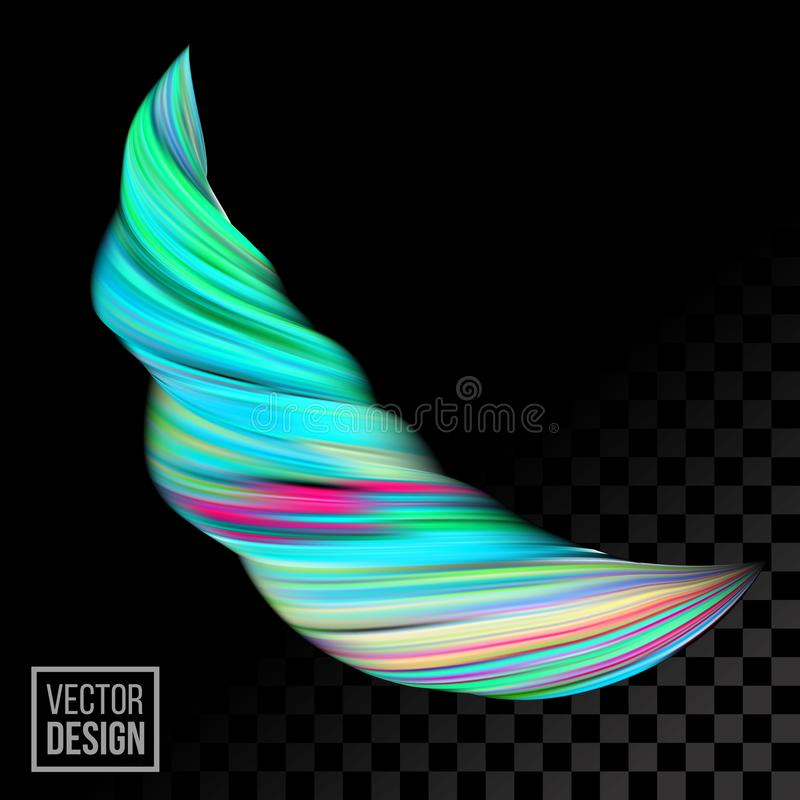 Σύγχρονο διανυσματικό ψηφιακό αφηρημένο υπόβαθρο ζωγραφικής Δημιουργικό ζωηρό τρισδιάστατο κύμα χρωμάτων ροής ρευστό απεικόνιση αποθεμάτων