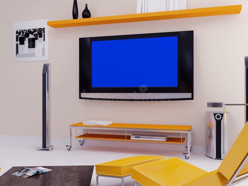 σύγχρονο δωμάτιο διαβίωσης απεικόνιση αποθεμάτων